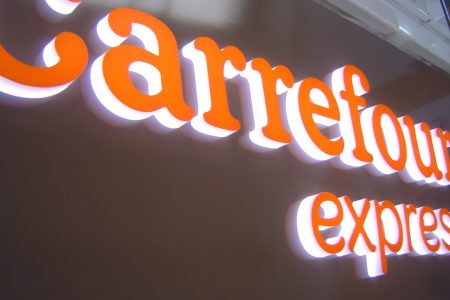 Enseigne LED Carrefour Express - Semios